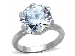 PR8026ZOC Oceľový prsteň so zirkónom