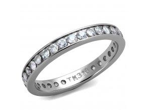 PR8029ZOC Oceľový prsteň so zirkónmi