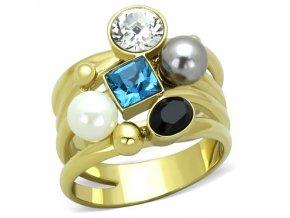 PR8032ZGPOC Výrazný oceľový prsteň
