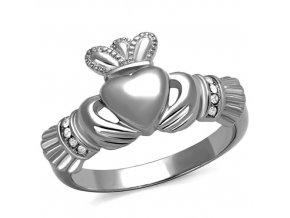 PR8037OC Oceľový prsteň so srdiečkom