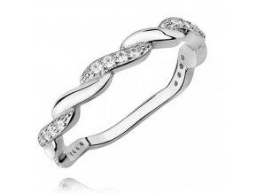 PR7126ZSS Strieborný prsteň so zirkónmi