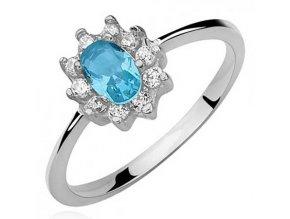PR7142ZSS Strieborný prsteň so zirkónmi