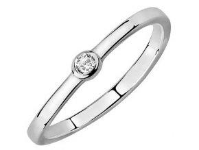 PR7145ZSS Strieborný prsteň so zirkónom