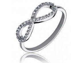 PR7149ZSS Infinity strieborný prsteň so zirkónmi