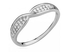 PR7152ZSS Striborný prsteň so zirkónmi