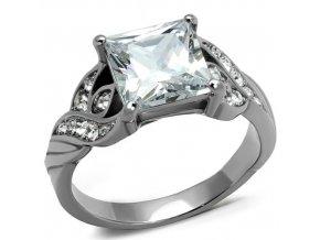 PR8047ZOC Oceľový prsteň so zirkónmi
