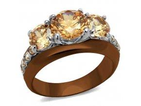 PR8054ZOC Oceľový prsteň so zirkónmi