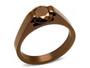 PR8057ZOC Oceľový prsteň so zirkónom