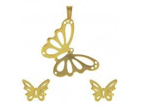 PV3289ZOC - Motýlik - oceľový prívesok so zirkónmi - Lotka.sk 93a2e08b23d