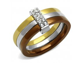 PR8074ZGOC Trojitý prsteň z chirurgickej ocele