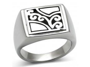 PR6510OC Pánsky oceľový prsteň s ornamentami