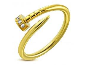 PR8085ZGOC Klinček - prsteň z chirurgickej ocele so zirkónmi