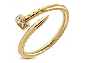 PR8086ZGOC Klinček - prsteň z chirurgickej ocele so zirkónmi