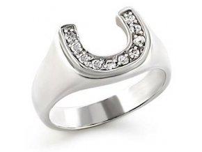 PR4077ZSS strieborny prsten podkovicka
