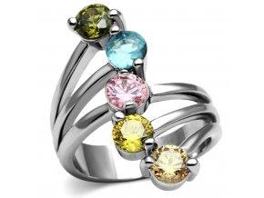 PR8094ZOC Farebný prsteň z chirurgickej ocele