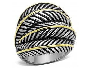 PR8102GOC Masívny prsteň z chirurgickej ocele