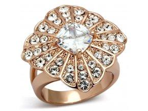 PR8104ZGOC damsky ocelovy prsten ruzove zlato