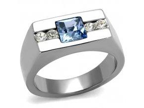 PR8110ZOC Pánsky prsteň z chirurgickej ocele so zirkónmi