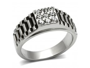 PR8111ZOC pansky ocelovy prsten so zirkonmi