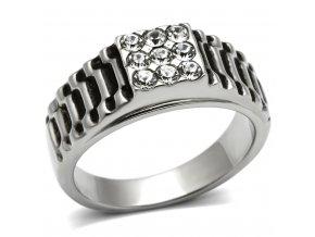 PR8111ZOC Pánsky prsteň z chirurgickej ocele so zirkónmi