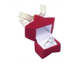 KR001 krabicka na prsten nausnice hviezdicka