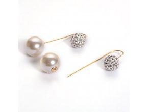 NA3772ZPOC ocelove nausnice perlove so zirkonmi
