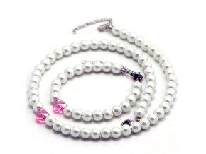 SE3220SWPOC ocelovy set damsky perlovy swarovski srdce