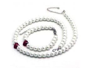 SE3221SWPOC ocelovy set damsky perlovy swarovski srdce