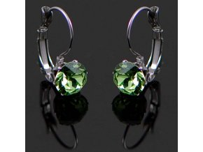 NA3801SWOC swarovski ocelove nausnice damske zelene