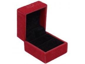 KR008 cervena zamatova krabicka