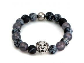 NRB0028 buddha naramok lev obsidian jadeit