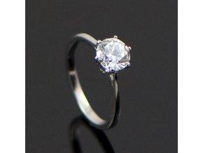 PR8120ZOC Jemný prsteň z chirurgickej ocel so zirkónom