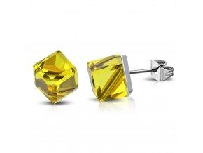NA3821ZOC zlte ocelove nausnice damske
