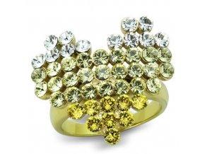 PR8126ZGOC Srdce oceľový prsteň