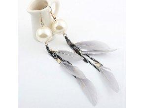BNA041 nausnice sive pierka perly