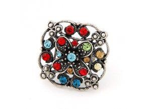BPR015 vintage farebny prsten