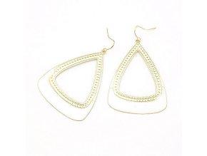 BNA158 bielo gold nausnice trojuholniky
