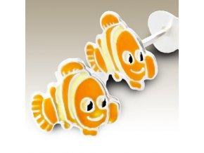 NA007D detske strieborne nausnice nemo