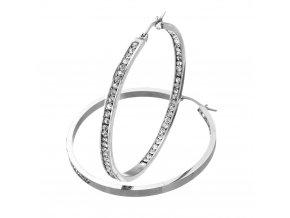 NA3843ZOC ocelove kruhy nausnice s kristalikmi damske
