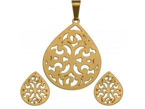 SE3246GOC damsky ocelovy set ornamenty