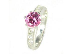 PR4429ZSS strieborny prsten so zirkonmi