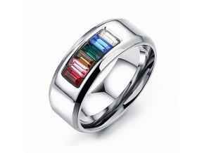 PR8136ZOC damsky ocelovy prsten farebny
