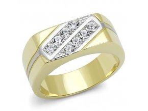 PR8144ZGOC pansky ocelovy prsten pozlateny