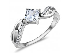 PR8150ZOC Dámsky oceľový prsteň
