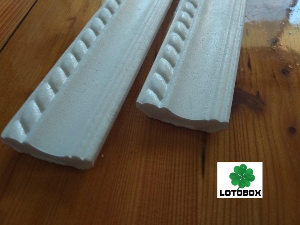 Stropní lišty B1 1metr 1kus  stropní polystyrenové lišty