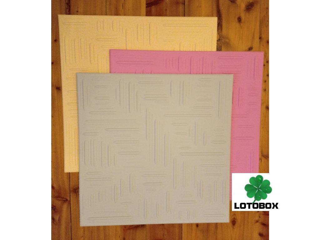 Polystyrenové kazety dekor NORMA 50x50cm 1kus  extrudované stropní kazety