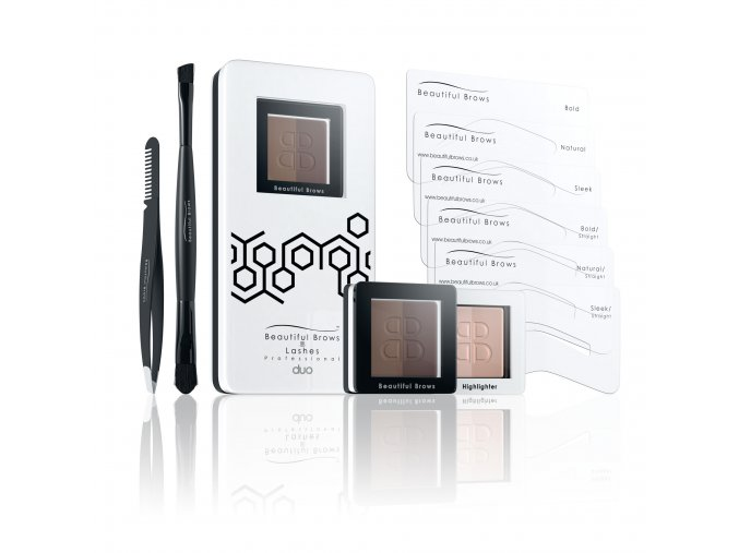 BEAUTIFUL BROWS - FAB BROWS - KOMPLETNÍ SADA NA OBOČÍ 1,985 g