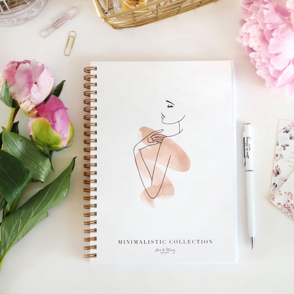 Zápisník s kroužkovou vazbou Lady
