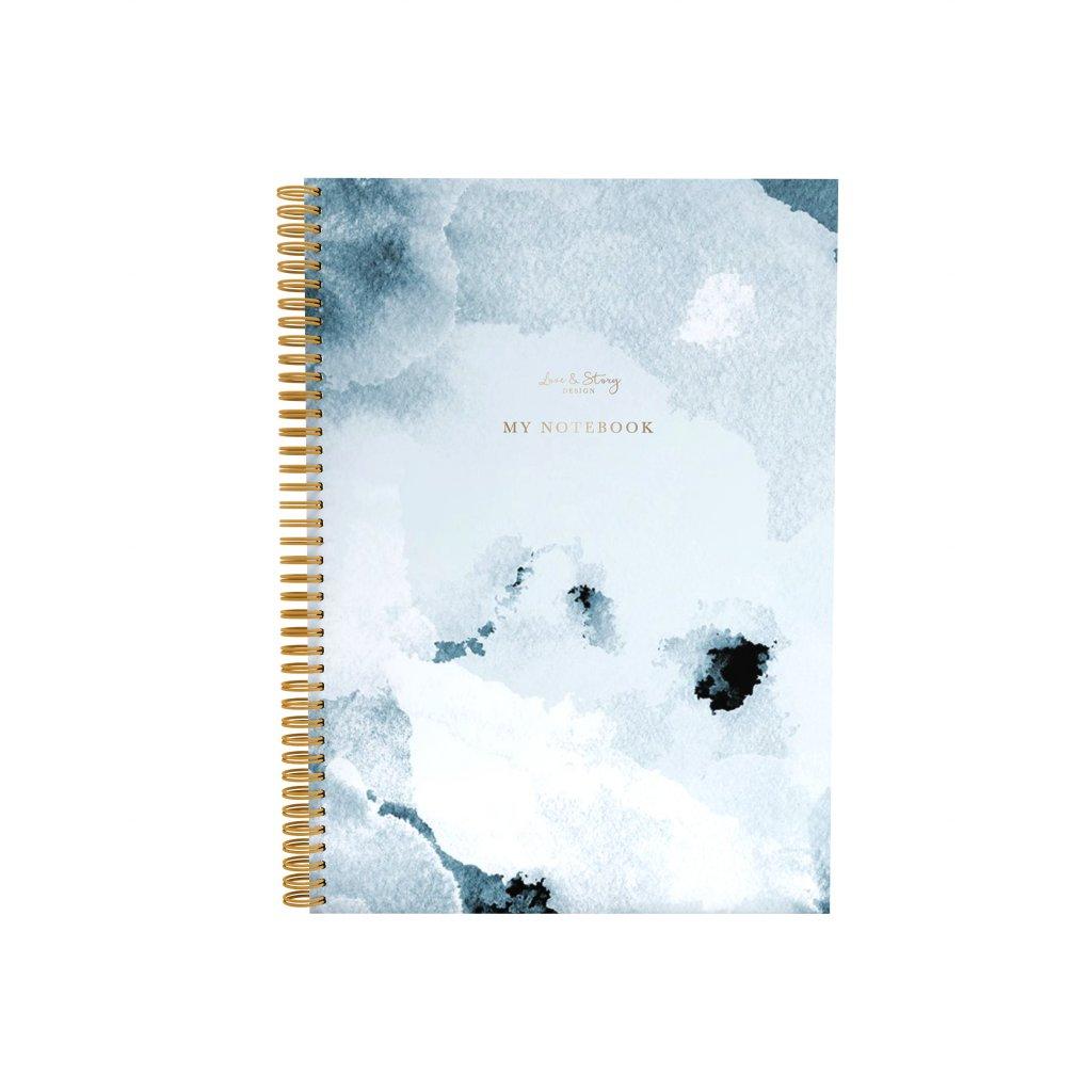 Zápisník Blue Paint