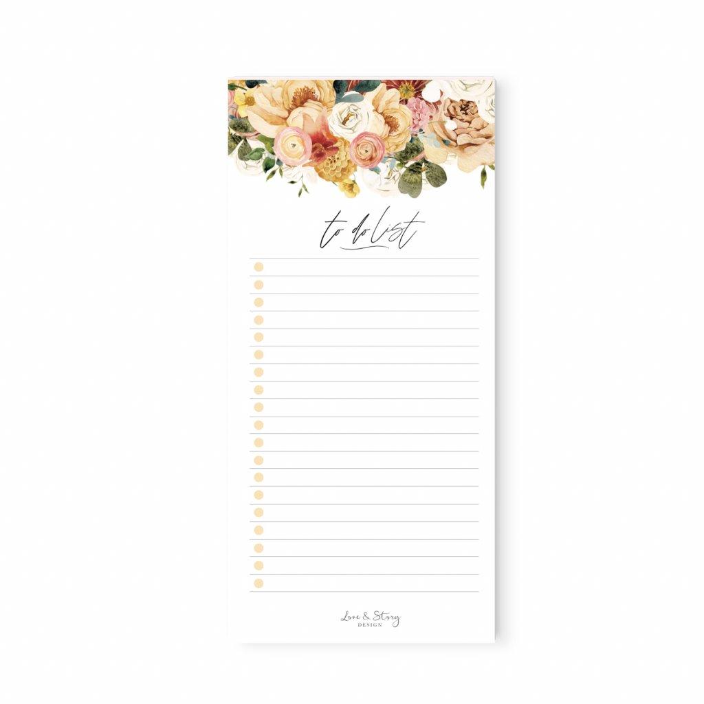To Do List Dusty Flower